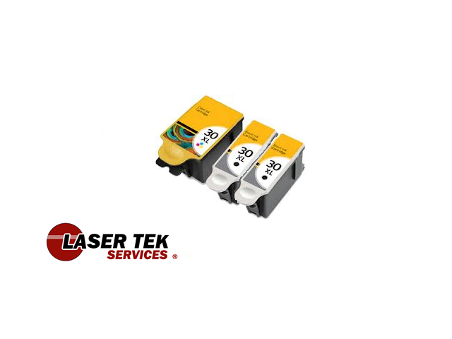 Laser Tek Services® Compatible Replacement Kodak 30XL Ink Cartridge 3 pack (2 Black 1550532 and 1 Color 1341080)