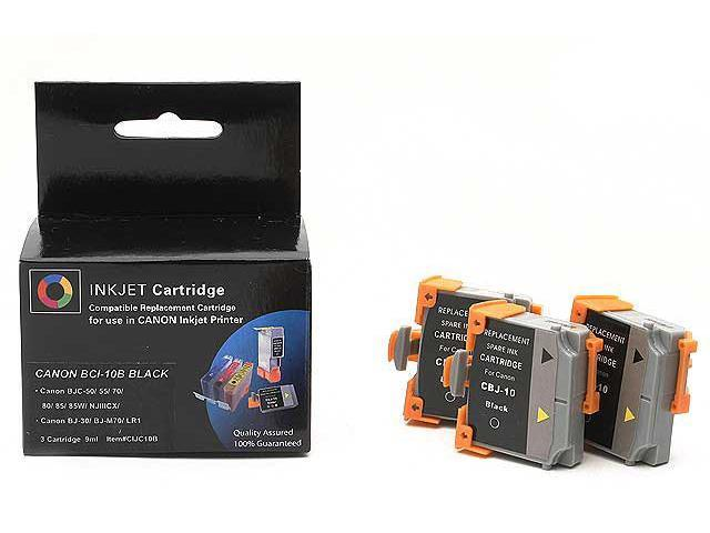 Laser Tek Services® Black 3 Pack Compatible Ink Cartridge Canon BCI-11B