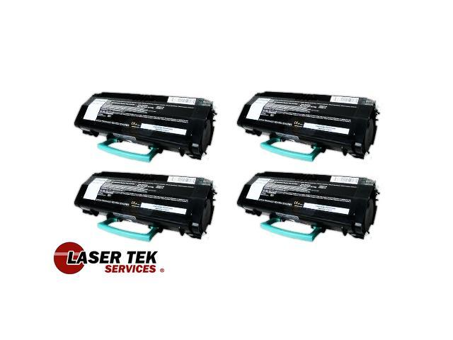 Laser Tek Services® 4 Pack Remanufactured Replacement Toner Cartridge for the Lexmark X264H21G X264