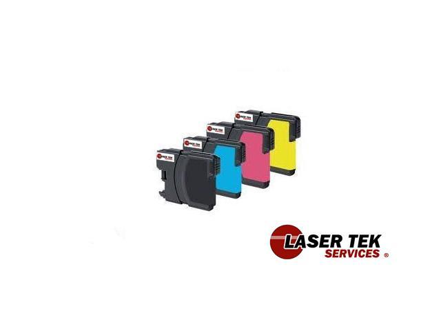 Laser Tek Services® Black and Color Brother LC-65BK LC-65C LC-65M LC-65Y (1BK, 1C, 1M, 1Y)