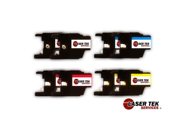 Laser Tek Services® Black and Color Brother LC-75BK LC-75C LC-75M LC-75Y (2BK, 2C, 2M, 2Y)