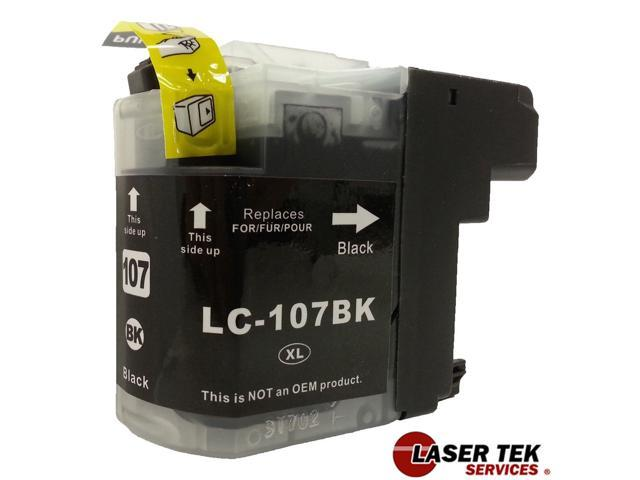 Brother LC107BK (LC-107) Compatible Super High Yield Black Ink Cartridge MFC-J4310DW MFC-J4410DW MFC-J4510DW MFC-J4610DW