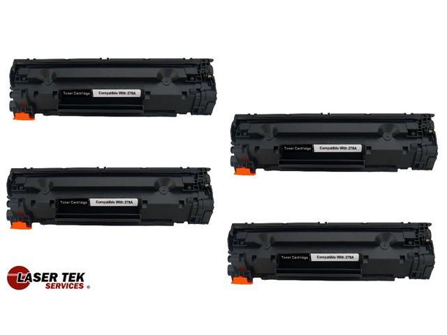 Laser Tek Services® 4 Pack Premium Compatible CE278A High Yield Toner Cartridge for HP P1566 P1606