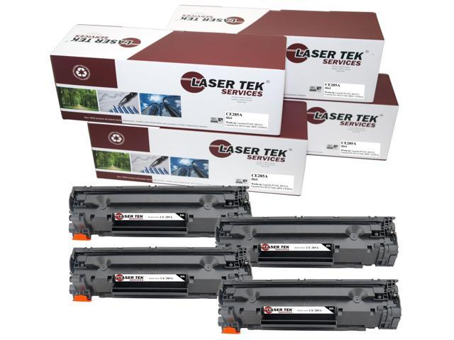 Laser Tek Services® 4 Pack Compatible CE285A High Yield Toner Cartridge for HP P1102 M1212 M1217nfw