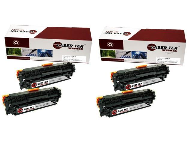 Laser Tek Services® 4 Pack Canon 131BK (6272B001AA) Black High Yield Replacement Toner Cartridges