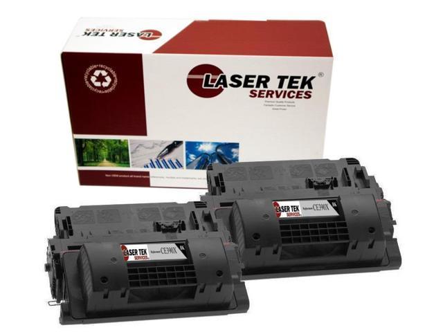 Laser Tek Services ® HP CE390X 2 Pack High Yield Premium Compatible Replacement Toner Cartridges
