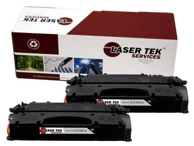 Laser Tek Services ® HP CE505A (05A) 2 Pack Standard Yield Compatible Replacement Toner Cartridges