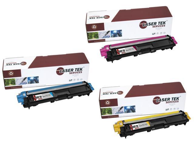 Laser Tek Services® Brother TN221 / TN225 3 Pack Compatible Replacement Toner Cartridges (1C, 1M, 1Y)