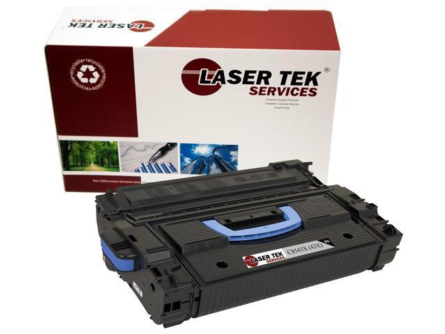 Laser Tek Services® HP C8543X (43X) Black Remanufactured Replacement Toner Cartridge