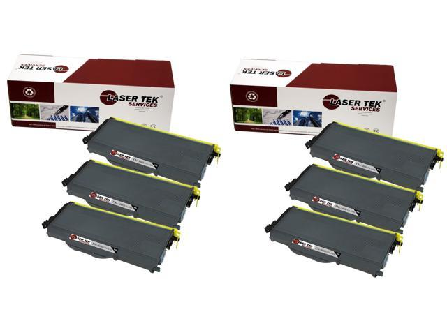 Laser Tek Services ® Brother TN360 6 Pack High Yield Compatible Replacement Toner Cartridges