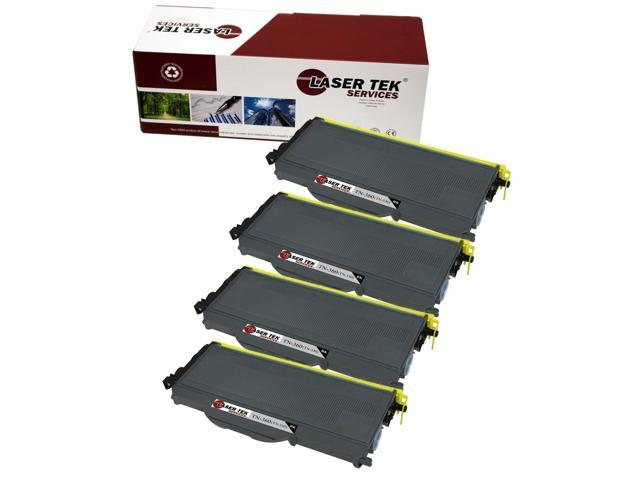 Laser Tek Services ® Brother TN360 4 Pack High Yield Compatible Replacement Toner Cartridges