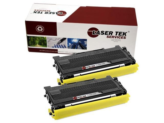 Laser Tek Services ® Brother TN350 2 Pack High Yield Compatible Replacement Toner Cartridges