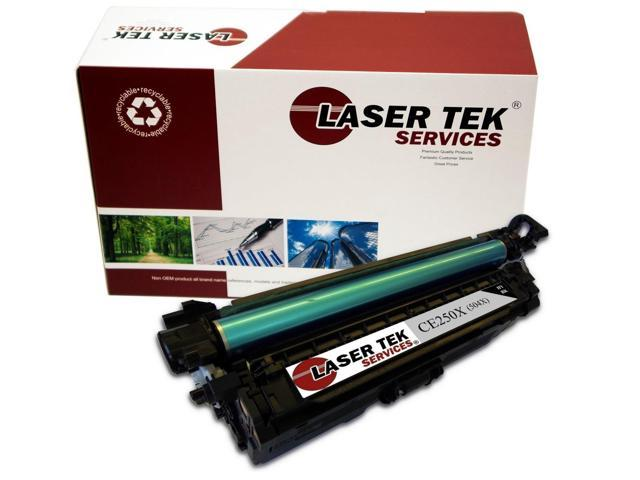Laser Tek Services ® HP CE250X (504X) Black High Yield Compatible Replacement Toner Cartridge