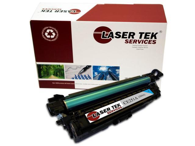 Laser Tek Services ® HP CE251A (504A) Cyan High Yield Compatible Replacement Toner Cartridge
