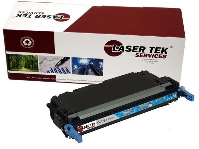 Laser Tek Services® Replacement HP Q6471A (502A) Cyan High Yield Toner Cartridge