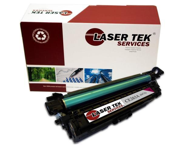 Laser Tek Services® Replacement HP CE263A (647A) Magenta High Yield Toner Cartridge