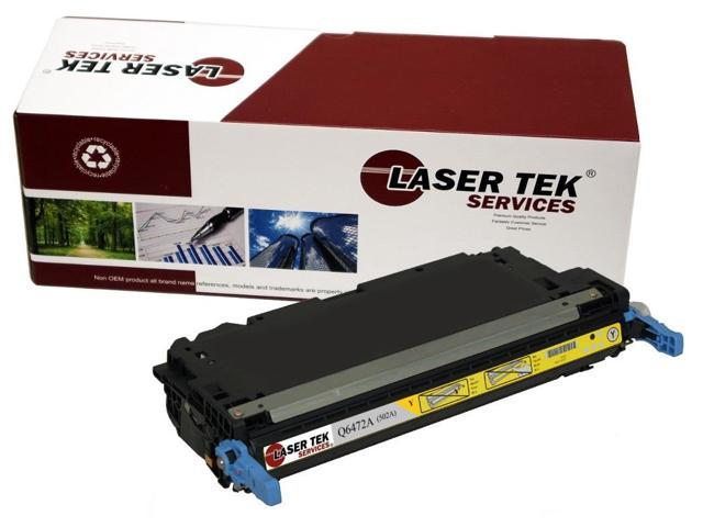 Laser Tek Services® Replacement HP Q6472A (502A) Yellow High Yield Toner Cartridge