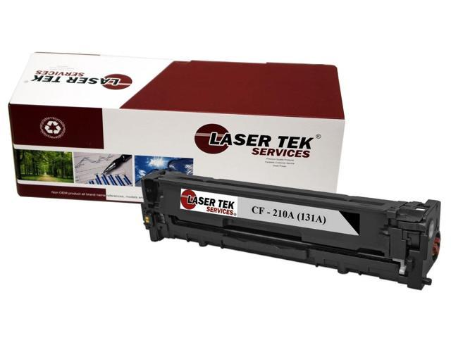 Laser Tek Services® HP CF210A Replacement Black Toner Cartridge for the HP 131A series