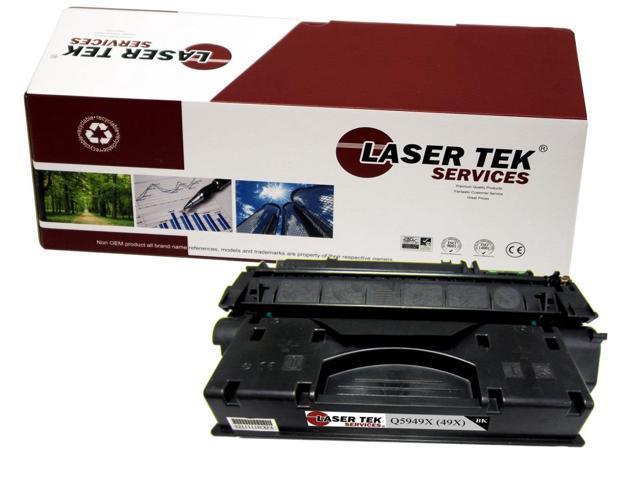 Laser Tek Services ® HP Q5949X (49X) Black Replacement Toner Cartridge for the HP LaserJet 1320, 3390, 3392