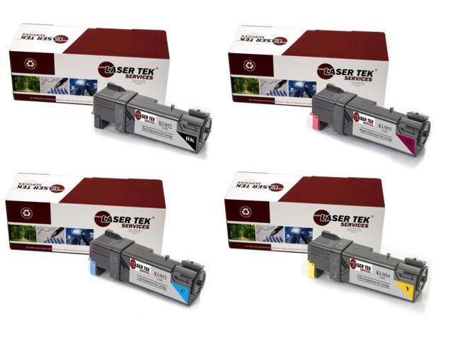 Laser Tek Services® 4PK Replacement Dell 1320 Toner Cartridges (1B KU052, 1C KU053, 1M KU055, 1Y KU054)