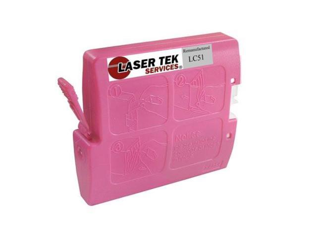 Laser Tek Services® Magenta Compatible Ink Cartridge Brother LC51M LC51