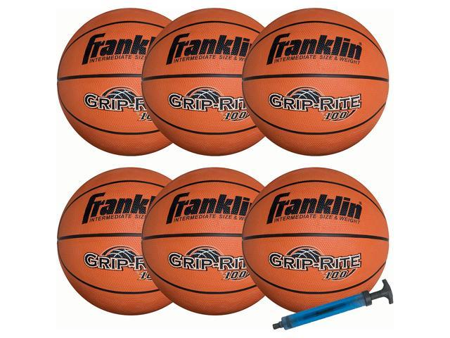 Franklin Grip-Rite® 100 Basketball Team Pack-6 With Pump