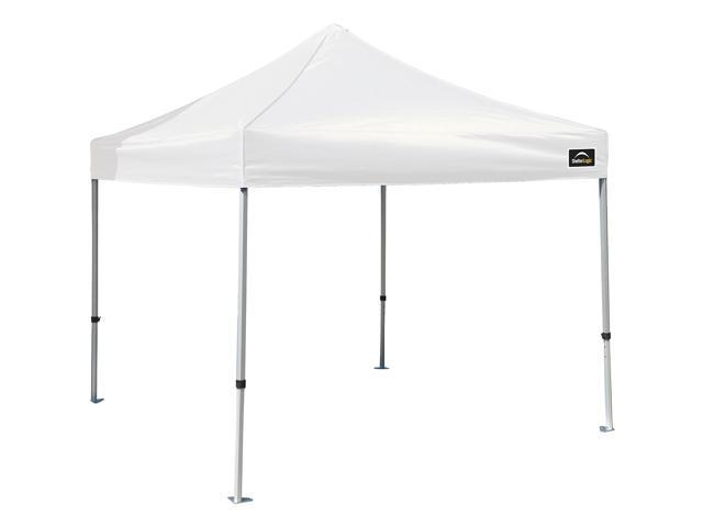 Shelterlogic 10X10 Alumi-Max Commercial Pop-Up Canopy With White Cover & Roller Bag