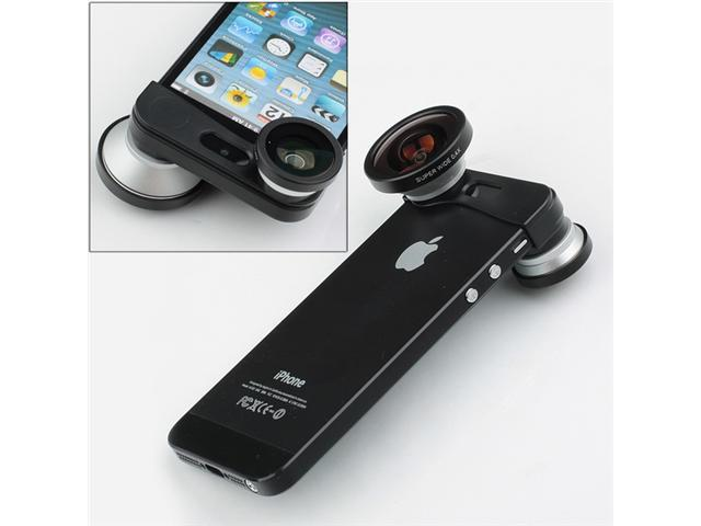 New 3 in 1 Super Wide Angle Lens + Fisheye Lens + Micro Lens Camera Kit for Apple iPhone 5 5G