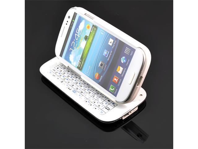 Samsung Galaxy S3 White Wireless Sliding Keyboard Case