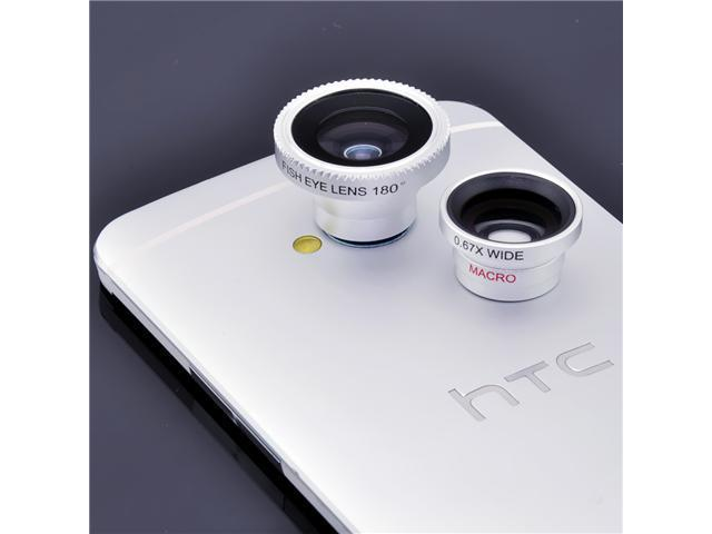 3 in 1 Fish eye Lens +Wide Angle +Micro Lens Photo Kit Set For iPhone 4S 5 5S 6 - OEM
