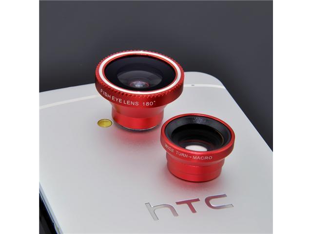 Mange 3 in 1 Fish Eye Lens + Wide Angle + Micro Lens Photo Kit Set For Blackberry Z10 Z30 Q10, iPhone 4S/ 5/ 5S/ 5C/ 6, Samsung ... - OEM