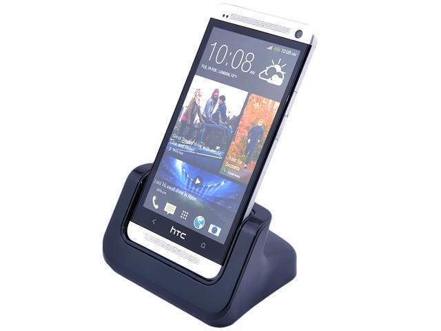 Desktop Phone Sync Dock Cradle Mount Holder Charger for HTC ONE M7 With Detachable Case Plate-Case Adaptor Fit Phone with or without Case