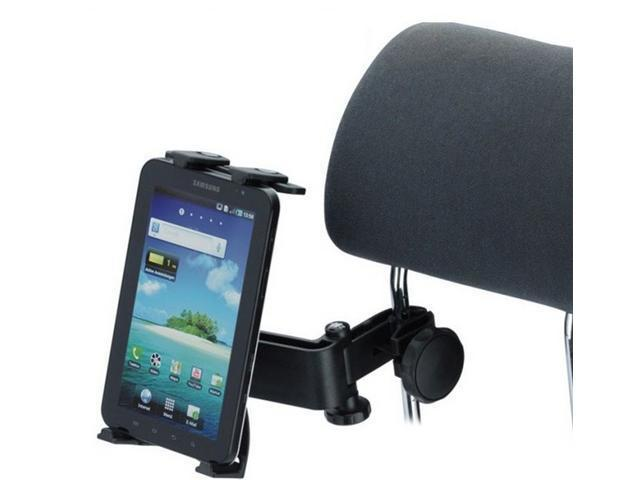 Secure Adjustable Music /Microphone Stand Car Headrest Mount Holder for Google nexus 7, Samsung Note 8.0,  Kindle Fire, Surface, ...