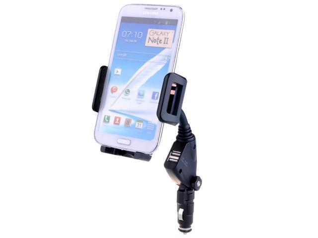 2 in 1 USB 2A 1A Car Charger Cradle Mount Holder for iPhone 5 5S 5C 4S/4 Samsung Galaxy S3 S4 Note 2 3