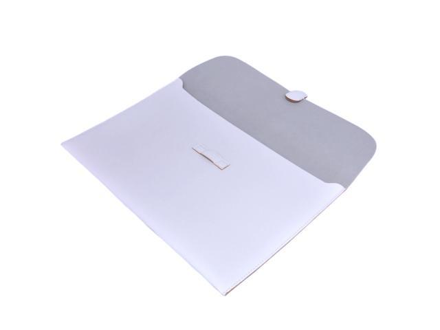 """For Newest Macbook Air 13"""" 13.3"""" inch Laptop Leather Case Sleeve Carry Bag Skin Cover White"""