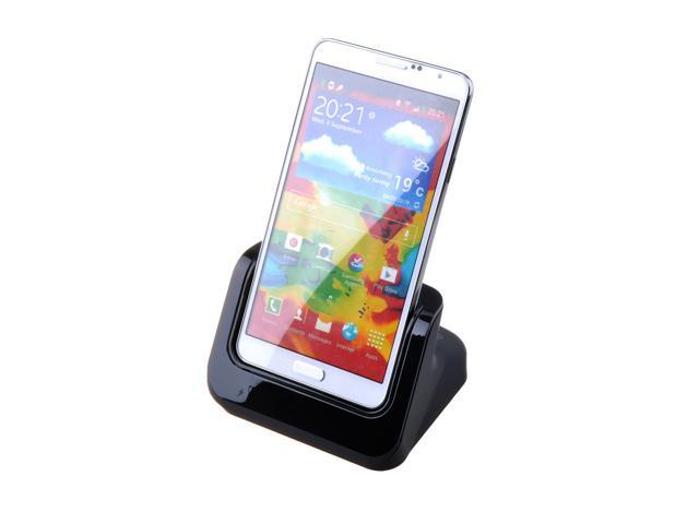 Black Charger Charging Dual Dock Station Cradle For Samsung Galaxy Note 3