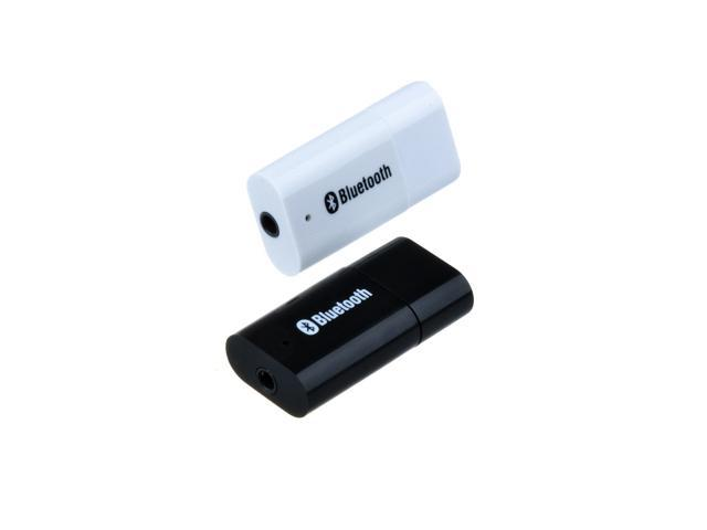 Black USB Bluetooth 3.5mm Stereo Audio Music Receiver Adapter for Speaker iPhone Mp3