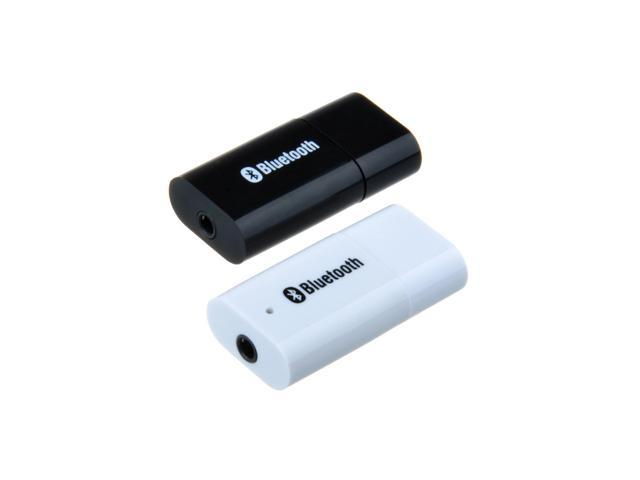 White USB Bluetooth 3.5mm Stereo Audio Music Receiver Adapter +Car Charger Adapter for Speaker iPhone Mp3