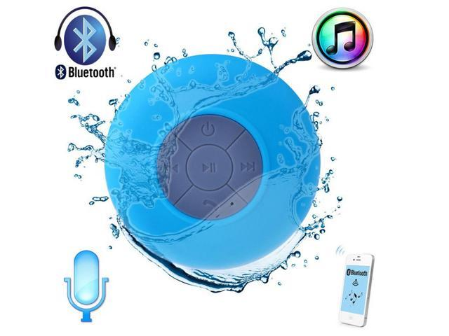 Blue Waterproof Wireless Bluetooth Car Shower Pool Stereo Speaker & Handsfree Speakerphone Compatible with all Bluetooth ...