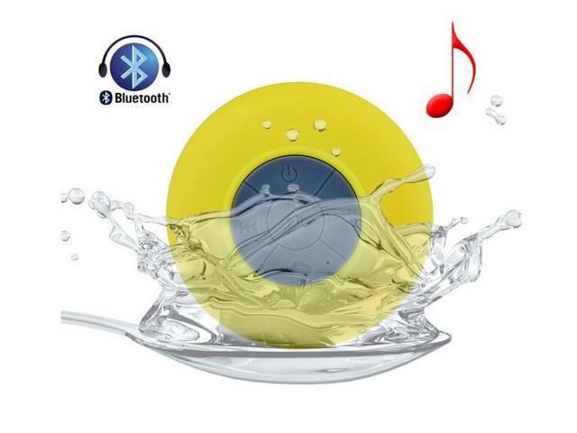 Gift Yellow Waterproof Wireless Bluetooth Car Shower Pool Stereo Speaker & Handsfree Speakerphone Compatible with all Bluetooth ... - OEM