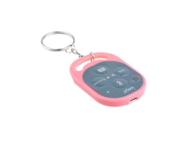 Wireless Bluetooth Remote Control Camera Shutter for Apple iPhone 5S Android Galaxy (Pink)