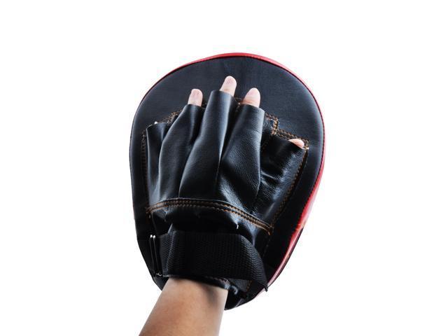 2PCS Boxing MMA Karate Muay Thai Kick Training Punching Mitt Gloves Target Focus Pad