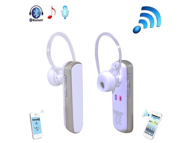 Patazon Wireless Bluetooth 4.0 In-Ear Stereo Music Headset Headphones Earphone Handsfree (White)