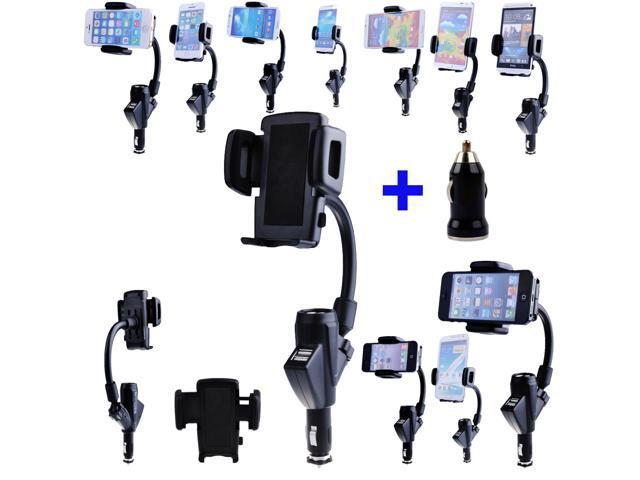 Dual in 1 Car Charger Mount holder Stand for iPhone 5S 5C Samsung galaxy S1 S2 S3 S4 Note 1 Note 2 Nokia Lumia 800 820 830 900 920 Smart Phones