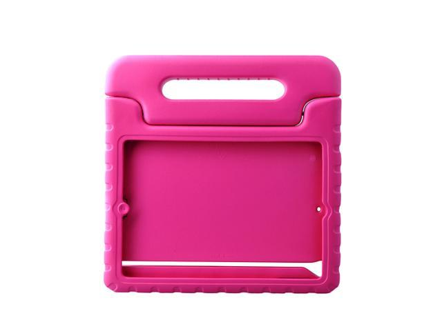 Kids Shock Proof Foam Case Handle Stand Cover Case for iPad 5/ iPad Air-Rose Red