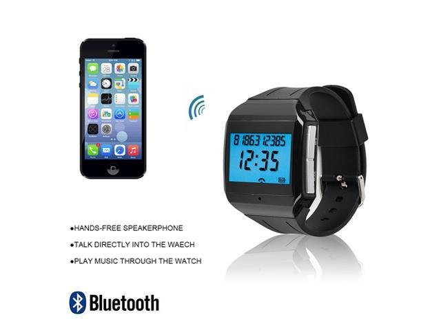 LCD Bluetooth 3.0 Speaker Watch Bracelet with Mic w/ Handsfree Call for iphone 5S 5 4S ipad ipod Samsung Galaxy S4 S3 Note 3 2 Sony xperia HT