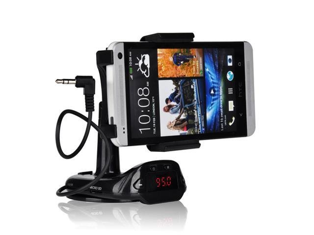Patazon 4 in 1 Function Smart Stand Car FM Transmitter Charger With Mount for Samsung Galaxy S4 / S3 / Galaxy Note 3 / Note ...