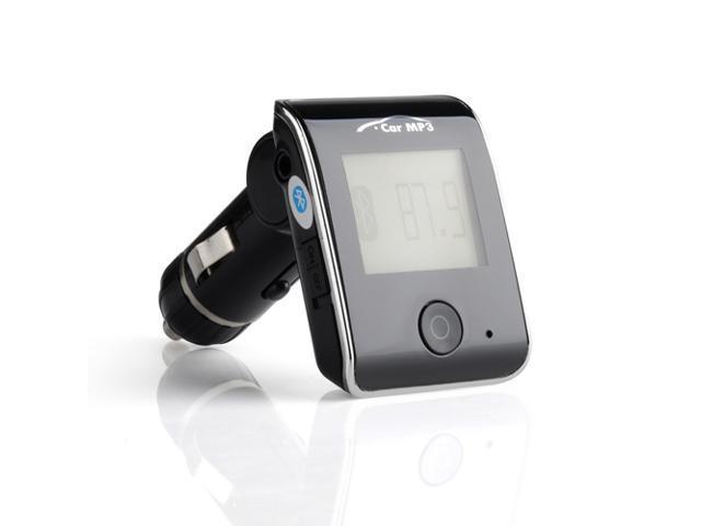 Patazon LCD Car MP3/4 Player FM Transmitter Modulator - Support USB/SD/Card, Bluetooth Handsfree - Silver
