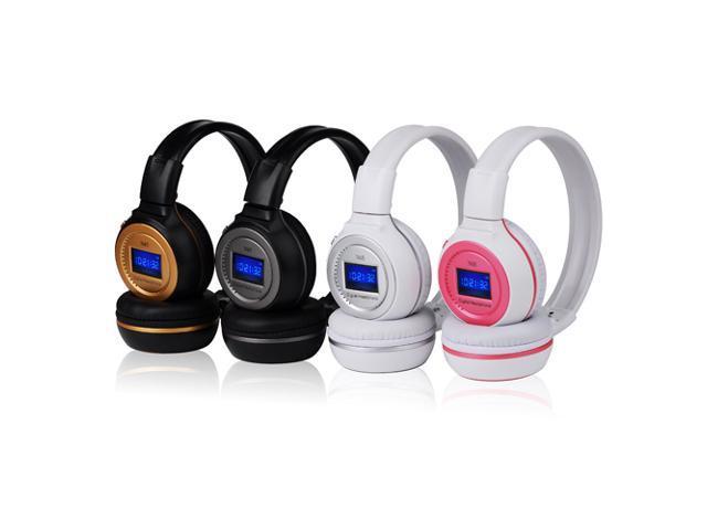 Wireless Headphone Hi-Fi Stereo Headset Earphone Support MMC SD TF with Mic FM Radio 3.5mm Port for Samsung Galaxy S3 S4 ... - OEM