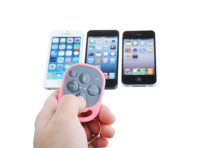 Bluetooth Remote Control Camera Shutter Wireless for iPhone 5 5S 5C 4 4S 3 iPad iPad 2 The New iPad 3 iPad Mini Galaxy S3 S4 Note 2-Pink